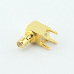 SMB Right Angle Jack 50 Ohms Connector for PCB