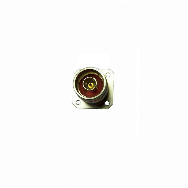 N plug straight connector 4 holes flange 50 ohm 5NCM55S-P00-003