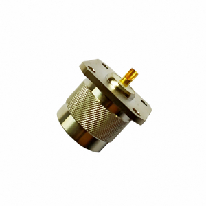 N plug straight connector 4 holes flange 50 ohm 5NCM85S-H41