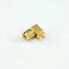 SMA plug right angle connector for pcb through hole 50 ohm 5MAM25R-P01
