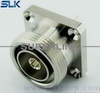 "7/16 jack straight connector for 1/4"" cable 4 holes flange 50 ohm 5A7F15S-LS14-004"
