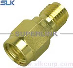 RP SMA female to SMA male straight adapter 50 ohm 5RMAF00S-MAM