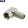 F female to F male right angle adapter 75 ohm 7FCF06R-FCM