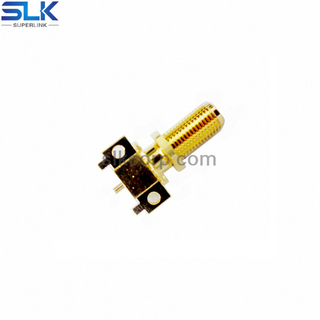 SMA jack straight connector for pcb end launch 50 ohm 5MAF25S-P01-009
