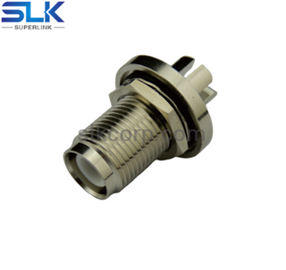 "RP TNC jack straight solder connector for .062"" cable bulkhead rear mount 50 ohm 5RTCF28S-P41"
