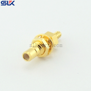 SMB jack straight solder connector for TFLEX-405 cable 50 ohm 5MBF14S-A82