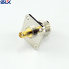 SMA jack straight crimp connector for RG178 cable 4 holes flange 50 ohm 5MAF81S-A03-004
