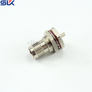 TNC jack straight solder connector for φ1.32 cable bulkhead rear mount 50 ohm 5TCF31S-A425-001