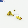 MCX plug right angle crimp connector for RG179 cable 75 ohm 7MXM12R-A01