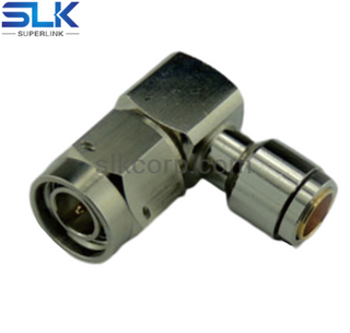 N plug right angle solder connector for TFLEX-405 cable 50 ohm 5NCM15R-A82