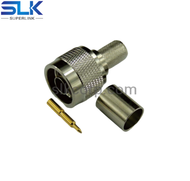 N plug straight crimp connector for LMR-400 cable 50 ohm 5NCM11S-A11-047