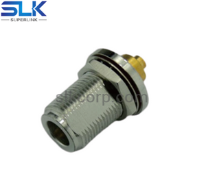 N jack straight crimp connector for φ1.32 cable bulkhead front mount 50 ohm 5NCF35S-A425-001