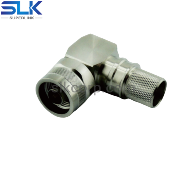 N plug right angle crimp connector for LMR-400 cable 50 ohm 5NCM11R-A11-035