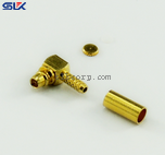MCX plug right angle crimp connector for RG316 KSR100 cable 50 ohm 5MXM11R-A02-014
