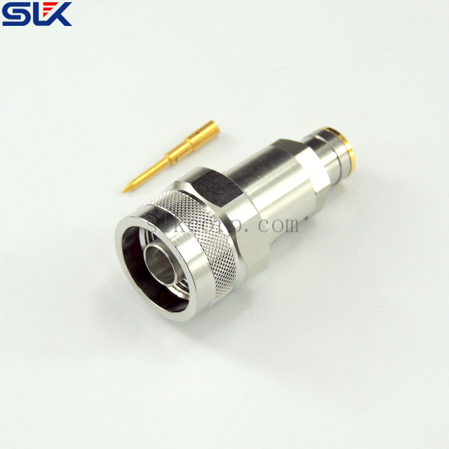 "N plug straight solder connector for 1/4"" cable 50 ohm 5NCM15S-A373"