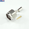 N plug straight crimp connector for LMR-200 cable 50 ohm 5NCM11S-A08-005