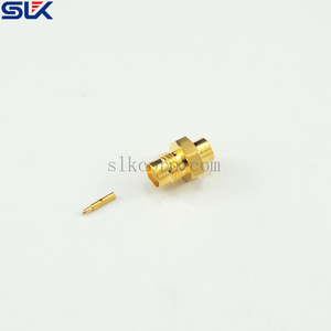 SMA jack straight solder connector for RG402/U cable 50 ohm 5MAF15S-S02-017