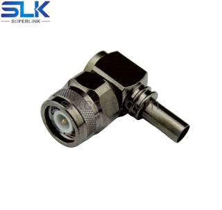 TNC plug right angle crimp connector for LMR-400 cable 50 ohm 5TCM11R-A11-008