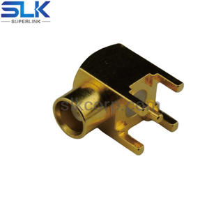 MMCX jack right angle connector for pcb 50 ohm 5MCF25R-P41