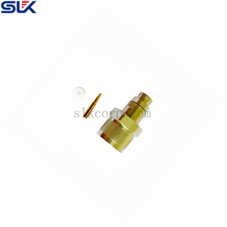 SC jack straight solder connector for FSF-750 cable 4 holes flange 50 ohm 5CEF15S-A467