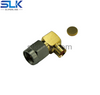 SMA plug right angle solder connector for HABIA FLEXIFORM 402 NM cable 50 ohm 5MAM15R-A349