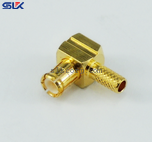 MCX plug right angle crimp connector for RD316D cable 50 ohm 5MXM11R-A50-019