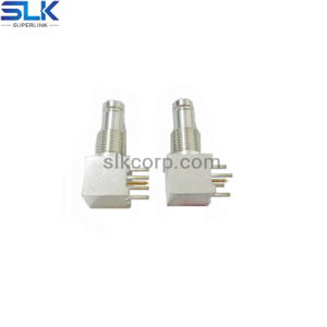 1.0/2.3 jack right angle connector for pcb smt 50 ohm 5A1F25R-P41-005