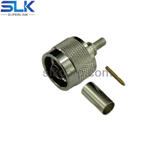 N plug straight crimp connector for LMR-240 cable 50 ohm 5NCM11S-A46-016