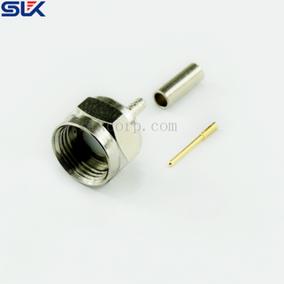 F plug straight crimp connector for 1.5D-2V cable 75 ohm 7FCM11S-A356