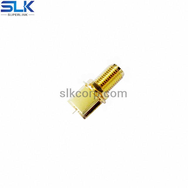 SMA jack straight connector for pcb end launch 50 ohm 5MAF28S-P21-010