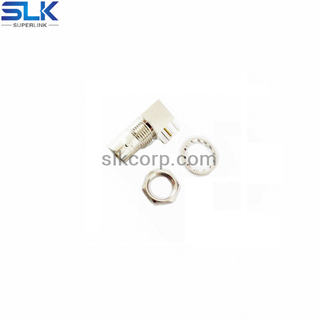 G male right angle connector for PCB through hole 75 ohm 7GCM25R-P41