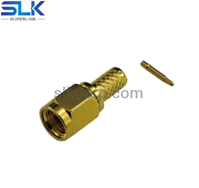 SMA plug straight crimp connector for 2.5D-HQ cable 50 ohm 5MAM11S-A41