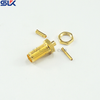 SMA jack straight solder connector for RG316D bulkhead front mount 5MAF11S-A50-010
