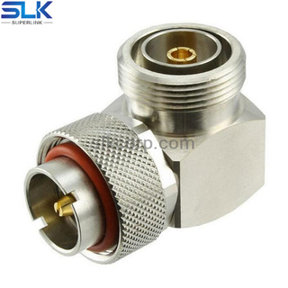 7/16 Jack to 7/16 Plug Right Angle Adapter 50 ohm 5A7F06R-A7M