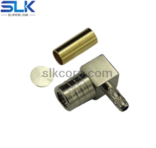 SMB plug right angle crimp connector for RG-316/U RG-174/U cable 50 ohm 5MBM11R-A02-030