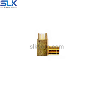 SMB male right angle connector for pcb through hole 50 ohm 5MBM25R-P41-008