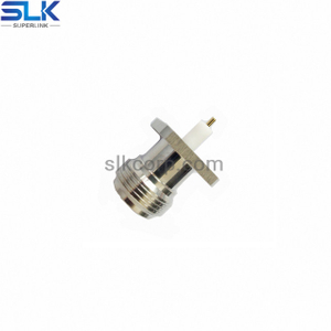 N jack straight connector 4 holes flange 50 ohm NM-5NCF85S-H41-004